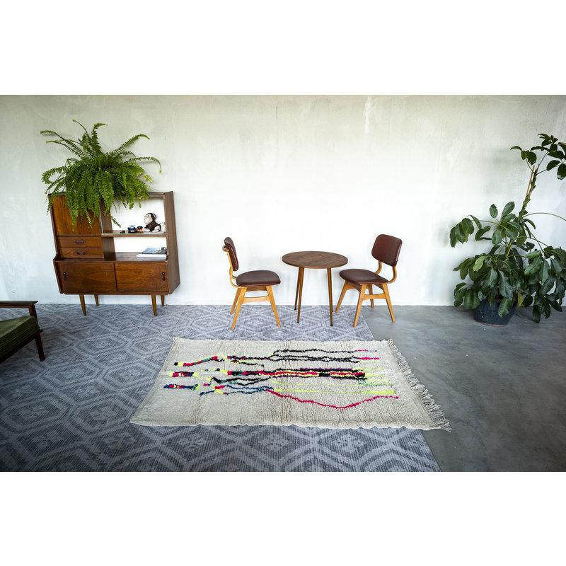 House for Interior nr. 10 Marokkaans Vloerkleed - Azilal - 189 x 116 cm - Crème - Fluor