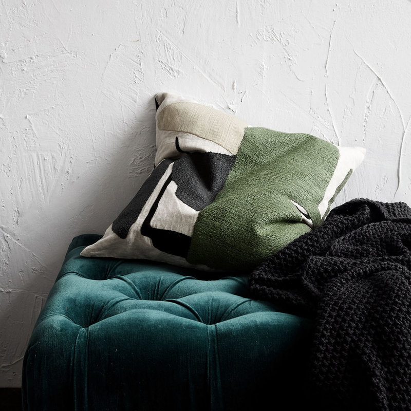 House Doctor AB1021 Sierkussen - Art - 50 x 50 cm - Groen