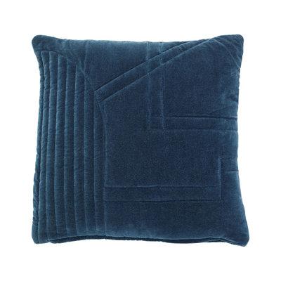 Hübsch 700809 Sierkussen - 50 x 50 cm - Blauw