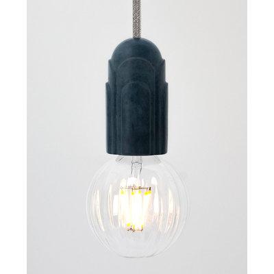 Hommage Department HD.101BL.SGY Hanglamp met schakelaar - Art Deco - Ø5,5 x H10 cm - Blauw