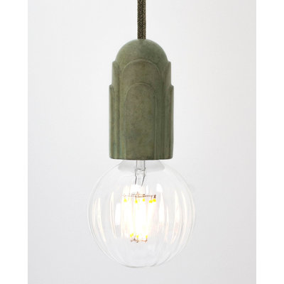 Hommage Department HD.101GN.SGN Lamp met schakelaar - Art Deco - Ø5,5 x H10 cm - Groen