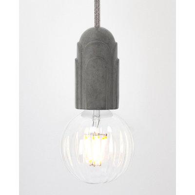 Hommage Department HD.101GY.SGY Hanglamp met schakelaar - Art Deco - Ø5,5 x H10 cm - Grijs