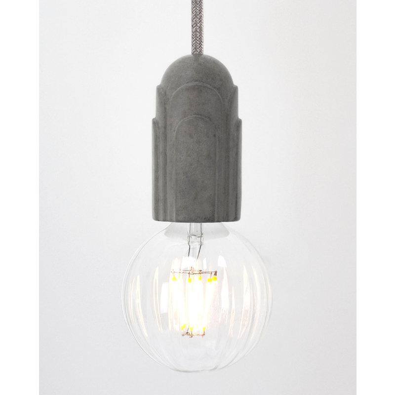 Hommage Department HD.101GY.SGY Lamp met schakelaar - Art Deco - Ø5,5 x H10 cm - Grijs