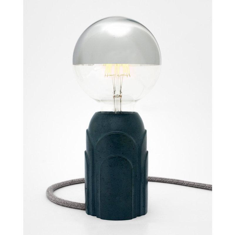 Hommage Department HD.102BL.SGY Tafellamp - Art Deco - Ø7 x H11 cm - Blauw