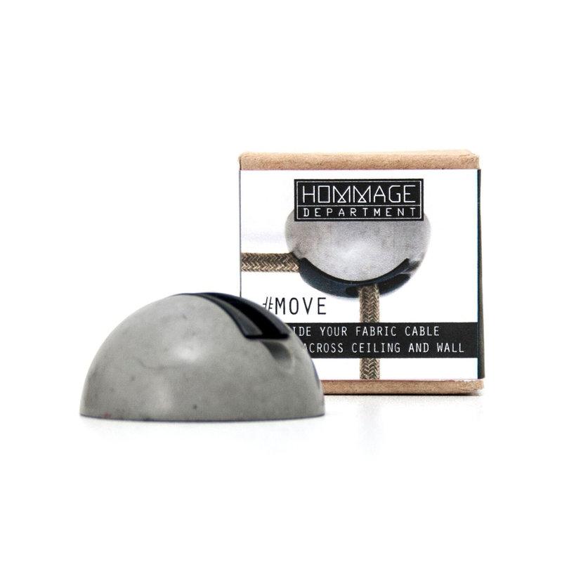 Hommage Department HD.117GY Snoergeleider - Move - Ø5 x H2,5 cm - Grijs