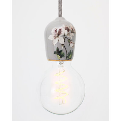 Hommage Department HD.104GY.PGY Hanglamp - Flowers - Ø6 x H8,5 cm - Grijs