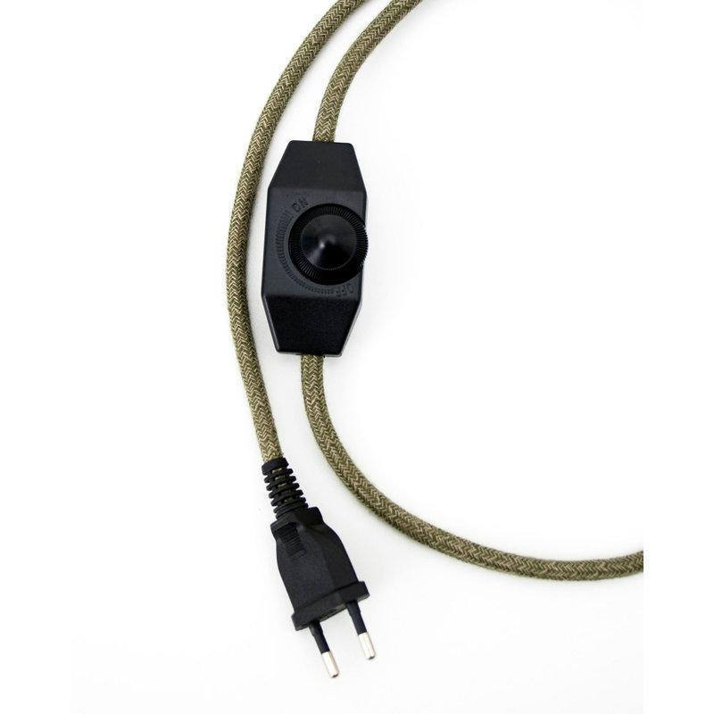 Hommage Department HD.104WH.SGN Lamp met schakelaar - Flowers - Ø6 x H8,5 cm - Wit