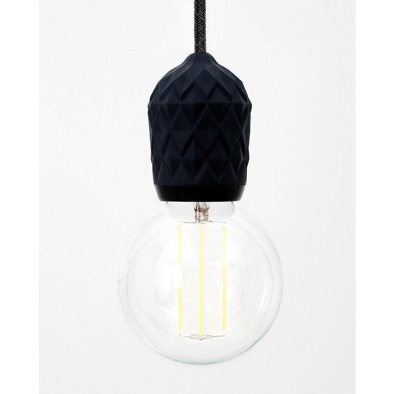 Hommage Department HD.107BK.SBK Lamp met schakelaar - Shades - Ø6 x H8,5 cm - Zwart