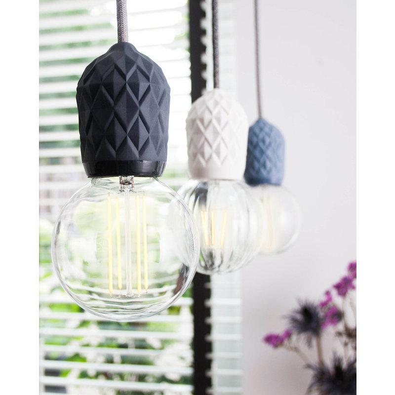 Hommage Department HD.107BL.SGY Lamp met schakelaar - Shades - Ø6 x H8,5 cm - Blauw