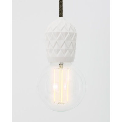 Hommage Department HD.107WH.SGN - Shades - Lamp met schakelaar - Ø6 x H8,5 cm - Wit