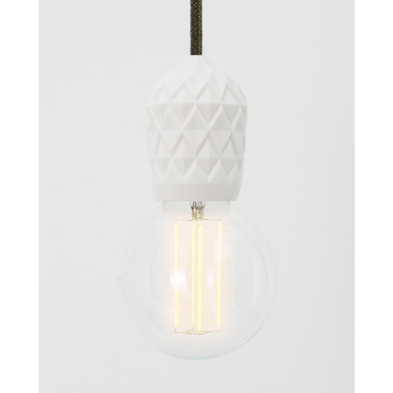 Hommage Department HD.107WH.SGN - Shades - Lamp met schakelaar - Ø6 x H8,5 cm - Wit