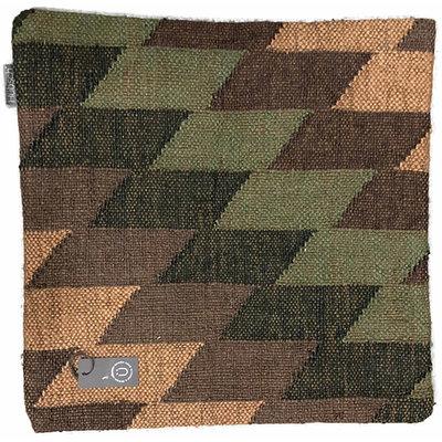 Hübsch 700201 Sierkussen - Kelim-patroon - Wol/jute - 50 x 50 cm