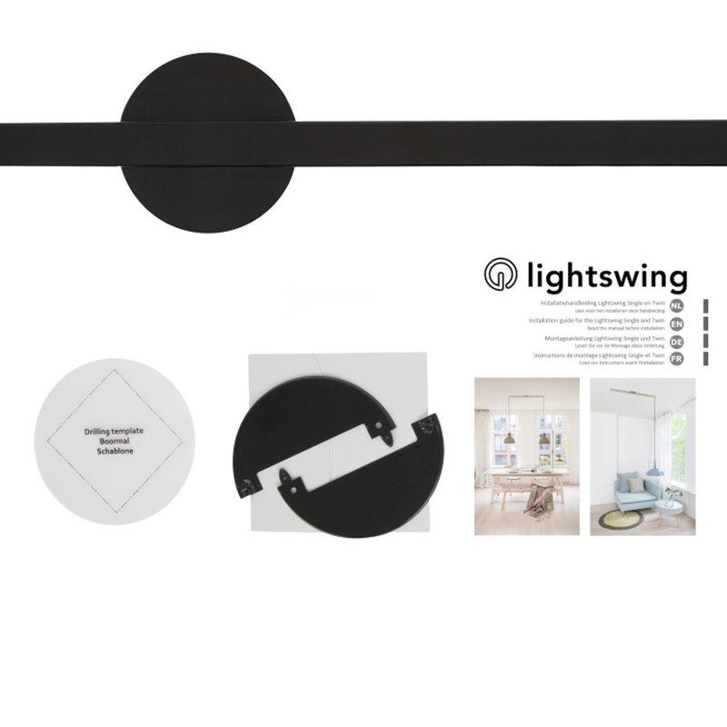 Lightswing Ophangsysteem voor Hanglampen - Twin - Mat zwart