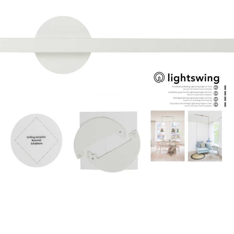 Lightswing Ophangsysteem voor Hanglampen - Twin - Wit