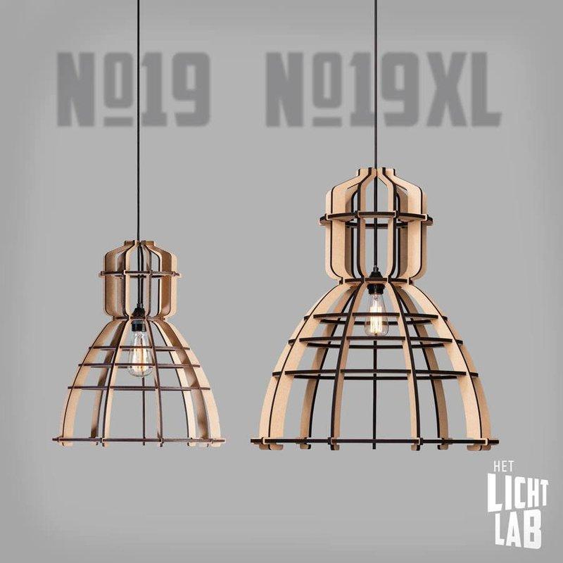 Het Lichtlab Hanglamp - No.19 xl industrielamp white edition - ø63xH72cm - MDF - Wit
