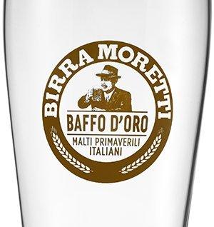 LOT DE 2 VERRES BIRRA MORETTI BAFFO D'ORO 20 CL
