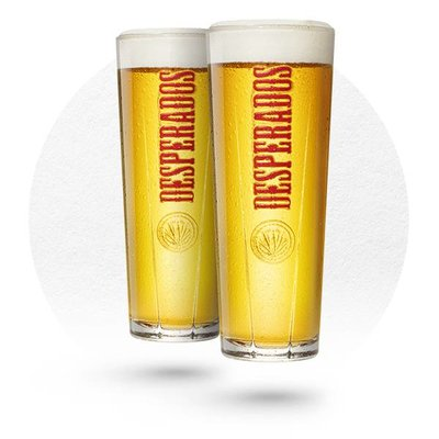 LOT DE 6 VERRES DESPERADOS 25CL N°2