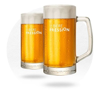 LOT DE 6 CHOPES LA BIÈRE PRESSION 25 CL