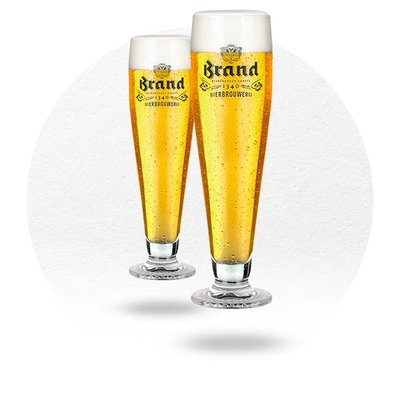 LOT DE 2 VERRES BRAND UP 25 CL