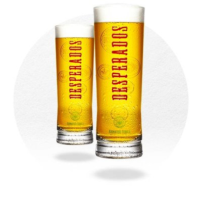 LOT DE 6 VERRES DESPERADOS 25CL