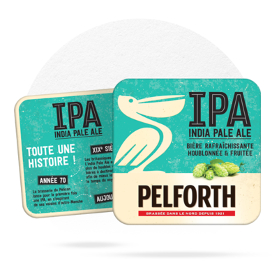 LOT DE 20 SOUS-BOCKS PELFORTH IPA