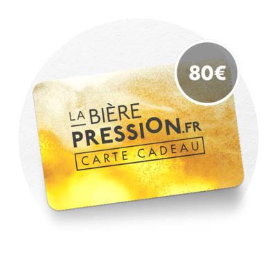 LA CARTE CADEAU DE 80€