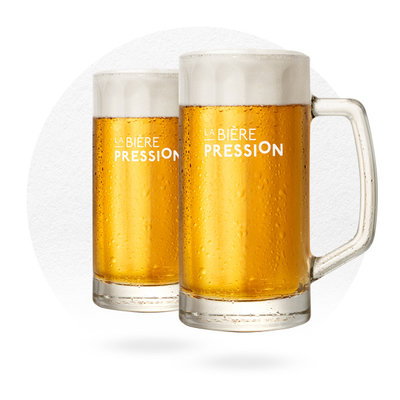 LOT DE 2 CHOPES LA BIÈRE PRESSION 25 CL