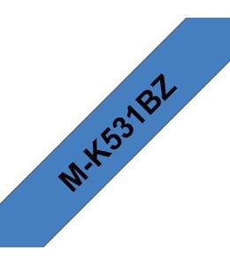 Brother LABELTAPE MK-531 12MM BLAUW/ZWART