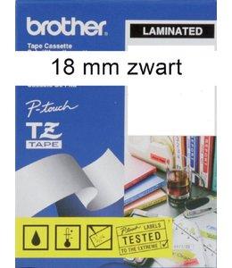 Brother LABELTAPE TZE-241 18MM WT/ZW