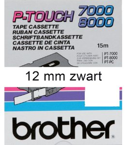 Brother LABELTAPE TX-231 12MM WT/ZW