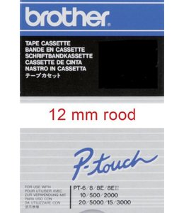 Brother LABELTAPE TC-202 12MM WT/RD