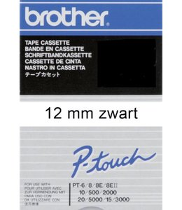 Brother LABELTAPE TC-201 12MM WT/ZW