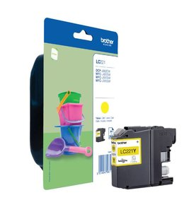 Brother INKCARTRIDGE LC-221 GEEL