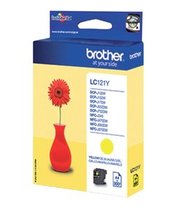 Brother INKCARTRIDGE LC-121 GEEL