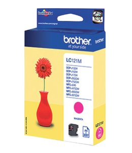 Brother INKCARTRIDGE LC-121 ROOD