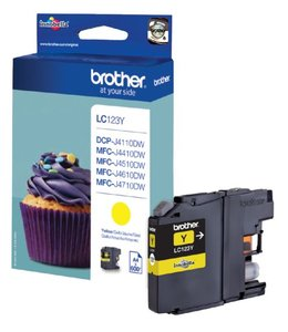 Brother INKCARTRIDGE LC-123 GEEL