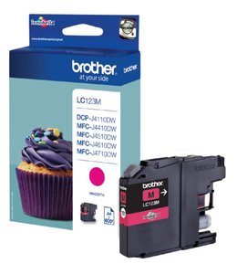 Brother INKCARTRIDGE LC-123 ROOD