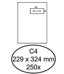 Quantore ENVELOPPE VENSTER C4 VR ZK WT 250STKS