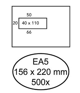 Quantore ENV VENSTER EA5 VL ZK WT 500STKS