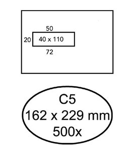 Quantore ENV VENSTER C5 VL ZK WT 500STKS