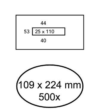 Quantore ENV BNKGRO 109X224 VM WT 500STKS
