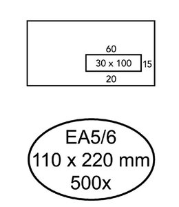 Quantore ENV VENSTER EA5/6 VR WT 500STKS