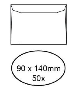 Quantore ENV VISITEKRT 90X140 WT 50STKS