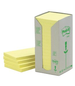 3M Post-it MEMOBLOK 654RECY 76X76 GL 16STKS