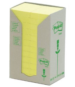 3M Post-it MEMOBLOK 653RECY 38X51 GL 24STKS