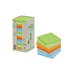 3M Post-it MEMOBLOK 654RECY 76X76 NAT 16STKS