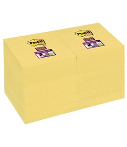 3M Post-it MEMOBLOK 656-SSY 47.6X76 GL 12STKS