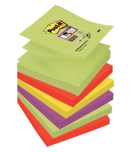 3M Post-it MEMOBLOK S330-6MK 76X76 MAR 6STKS
