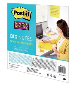 3M Post-it SCRUM BIG NOTES 27.9X27.9CM 30STKS