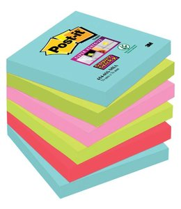 3M Post-it MEMOBLOK 654 STICKY MIAMI 6STKS